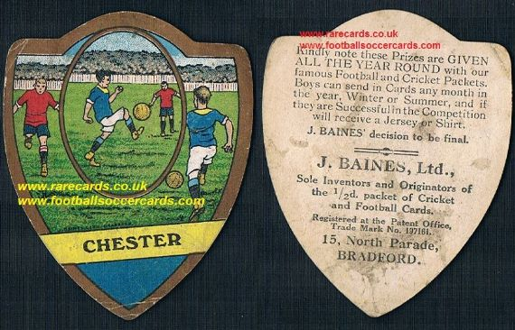 1900 Chester F.C. The Blues Baines card